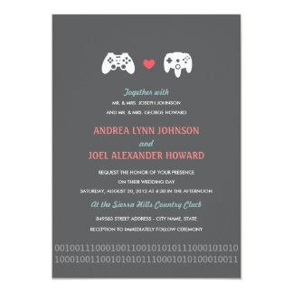 Invitations de mariage d'amour de contrôleur de