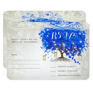 Invitations de mariage d'arbre de feuille de coeur