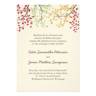 Invitations de mariage de automne