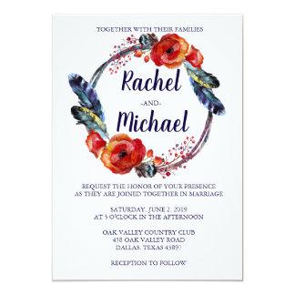 Invitations de mariage de BOHO