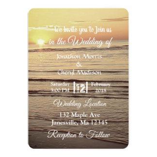 Invitations de mariage de coucher du soleil de