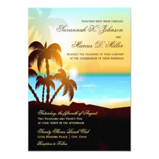 Invitations de mariage de destination de palmiers