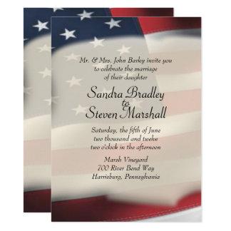Invitations de mariage de drapeau