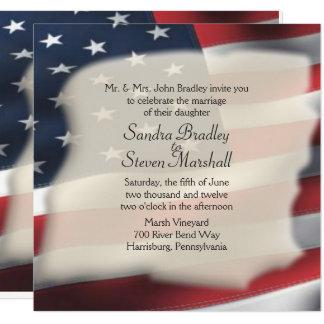 Invitations de mariage de drapeau américain