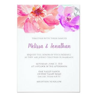 Invitations de mariage de fleur d'aquarelle