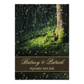 Invitations de mariage de luciole de forêt