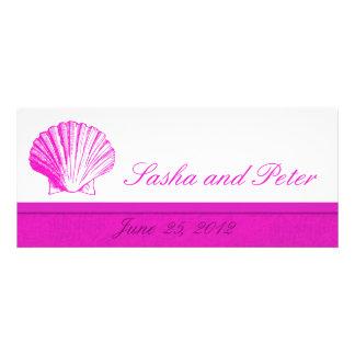 Invitations de mariage de plage de Fuscia Shell