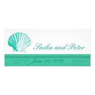 Invitations de mariage de plage de Shell d Aqua