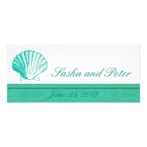 Invitations de mariage de plage de Shell d'Aqua