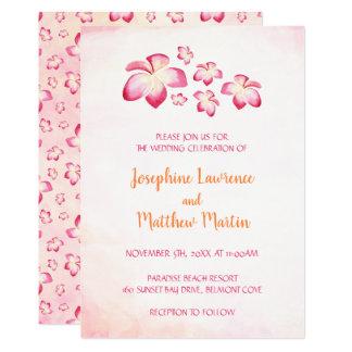 Invitations de mariage de Plumeria de coucher du