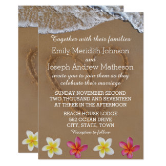 Invitations de mariage de Plumeria/Frangipani