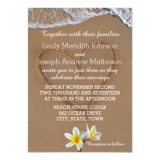 Invitations de mariage de ressac de Plumeria de