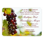 Invitations de mariage de vignoble de raisins
