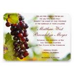 Invitations de mariage de vignoble de raisins d'ét