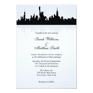 Invitations de mariage d'horizon de New York