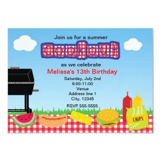 Invitations de parc de barbecue de BBQ de barbecue