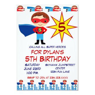 Invitations de partie d'anniversaire de enfant de carton d'invitation  12,7 cm x 17,78 cm