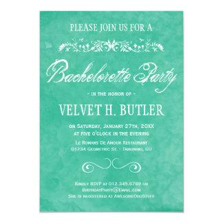 Invitations de partie de Bachelorette d'aquarelle Carton D'invitation 12,7 Cm X 17,78 Cm