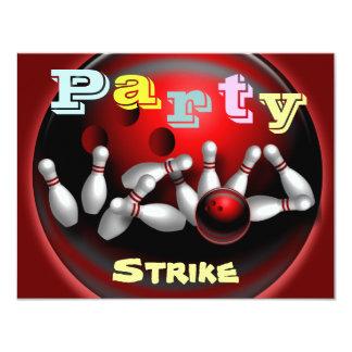 Invitations de partie de bowling