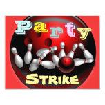 Invitations de partie de bowling carton d'invitation 10,79 cm x 13,97 cm