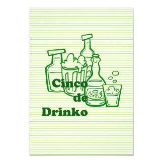 Invitations de partie de Drinko Cinco Cinco De