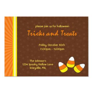 Invitations de partie de Halloween de bonbons au