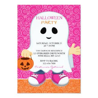 Invitations de partie de Halloween de fille de des
