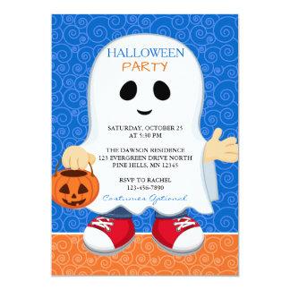 Invitations de partie de Halloween de garçon de