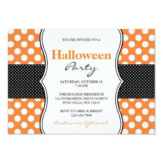 Invitations de partie de Halloween de pois