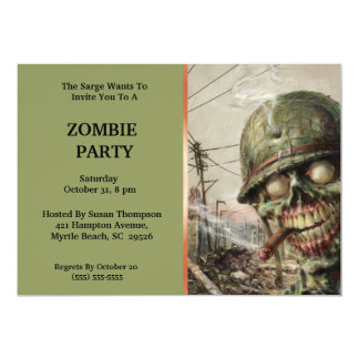 Invitations de partie de Halloween de zombi