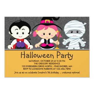 Invitations de partie de Halloween d'enfants de