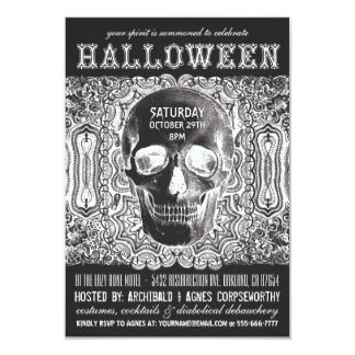 Invitations de partie de Halloween - noir de