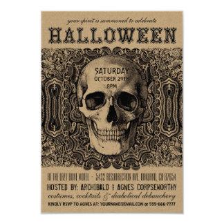 Invitations de partie de Halloween - Steampunk
