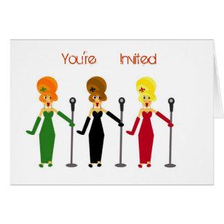 Invitations de partie de karaoke cartes de vœux