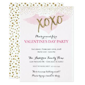 Invitations de partie de l'aquarelle XOXO