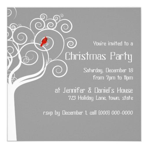 Invitations de partie de Noël