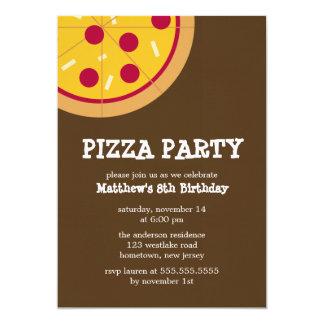 Invitations de partie de pizza
