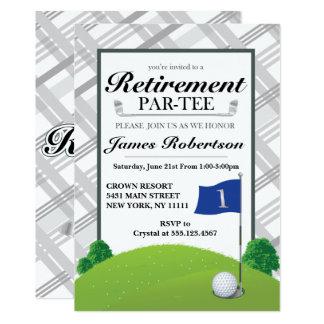 Invitations de partie de retraite de golf