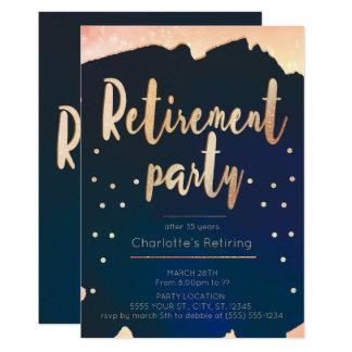 Invitations de partie de retraite d'or et de