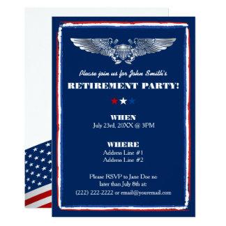 Invitations de partie de retraite pour l'Armée de