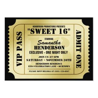 Invitations de partie de style de billet du sweet carton d'invitation  12,7 cm x 17,78 cm