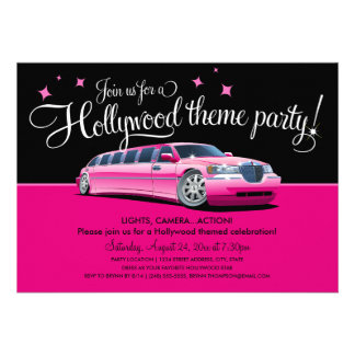 Invitations de partie de thème de Hollywood