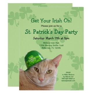 Invitations de partie du jour de St Patrick