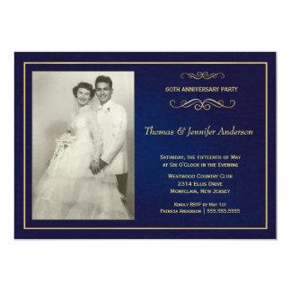 Invitations de photo d'anniversaire de mariage -
