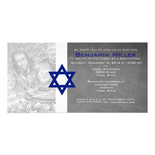 Invitations de photo de Mitzvah de barre Photocarte Customisée