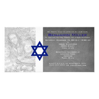 Invitations de photo de Mitzvah de barre Cartes Avec Photo