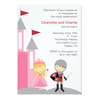 Invitations de princesse et de chevalier