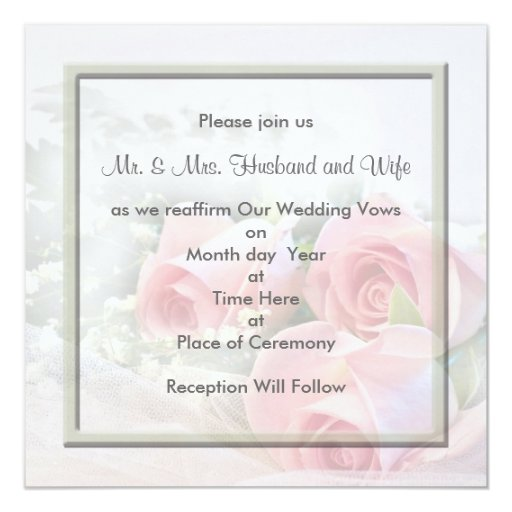 Renewal Of Vows Invitations as good invitations example