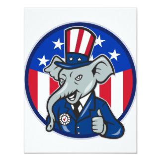 Invitations de républicain d'éléphant