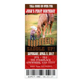 Invitations de rodéo de cowboy, enveloppes
